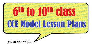 VI to X CLASS CCE MODEL LESSON PLANS