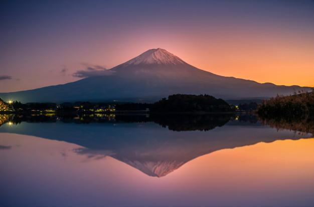 Sunset di kawaguchi-ko