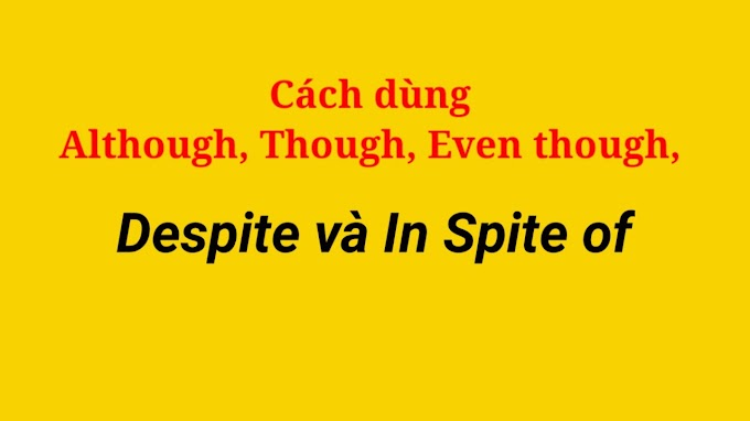 Cách dùng Although, Though, Even though, Despite và In Spite of