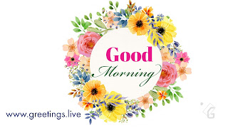 Latest Good morning floral Greetings HD