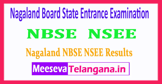 NBSE NSEE Nagaland Board State Entrance Examination Results 2018
