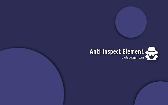 Cara memasang Anti Inspek Elemen Greget di Blog