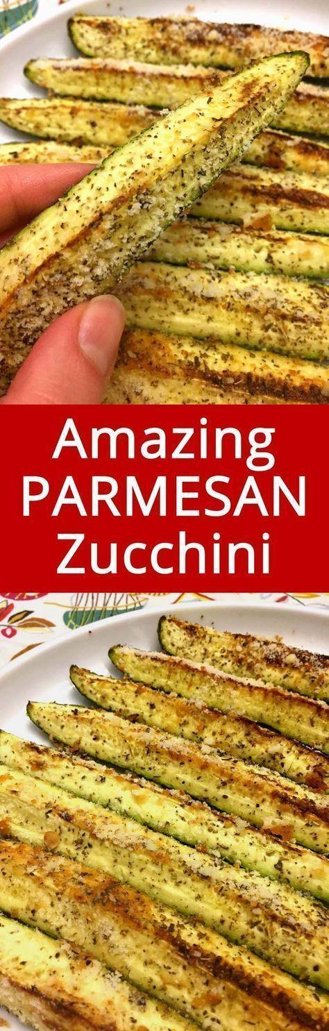 Healthy Baked Parmesan Garlic Zucchini