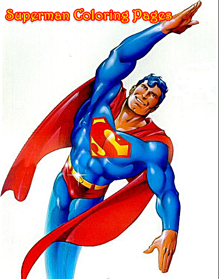 Superman Coloring Pages For Kids-Free Printable
