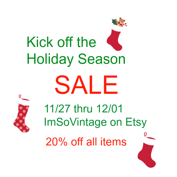 Time For A Big Holiday Sale In My Etsy Shop