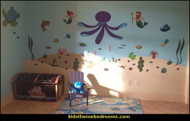 Groovy Ocean Decor Bedroom Under The Sea Theme Room Ocean Decor Kids Largest Home Design Picture Inspirations Pitcheantrous