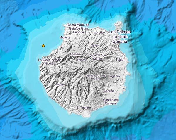Terremoto sentido Aldea de San Nicolás