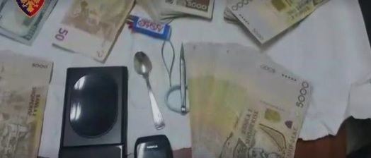 Cocaine and millions of Leks, sights inside drug dealers home in Tirana
