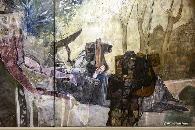 Homenaje a las Artes, mural por Justo San Felices - Bilbao, por El Guisante Verde Project