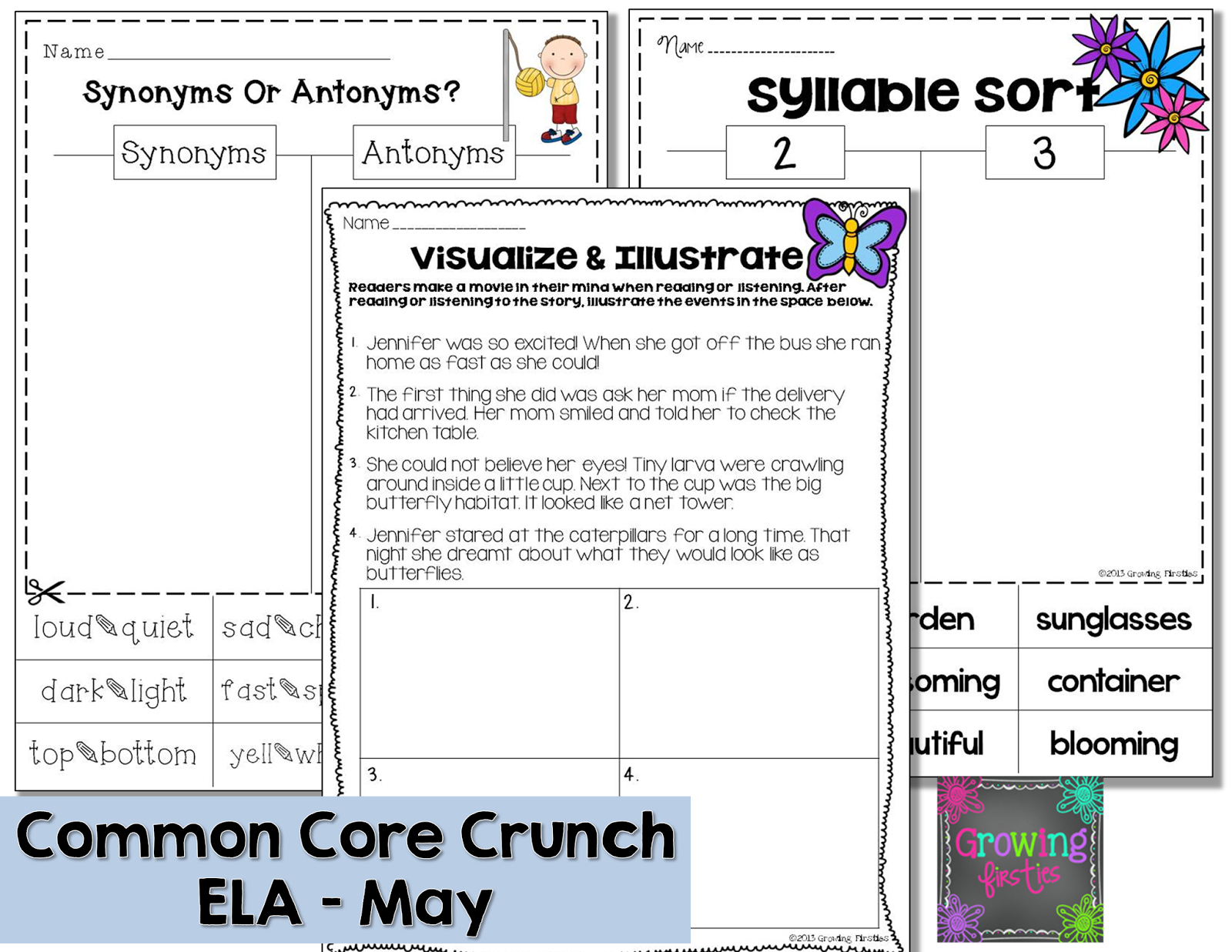 Growing Firsties - Common Core Crunch - May ELA