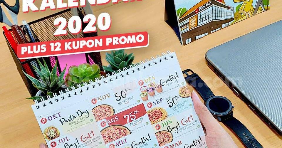 Promo Pizza Hut Gratis Kalender 2020 + 12 Kupon Promo