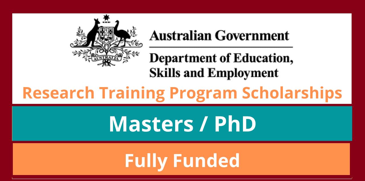 برنامج التدريب البحثي الحكومي الأسترالي 2022   ممول بالكامل