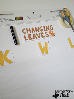 FREE KWL chart for fall leaves- Fall Science- activities to help integrate science into your fall teaching