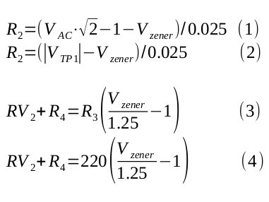Calculate R2 and RV2+R4