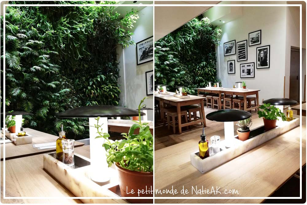 restaurant décoration naturelle et verdoyante Vapiano