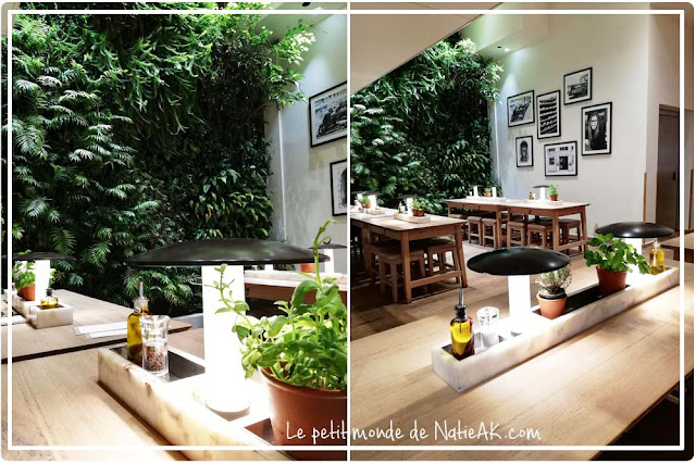 mur végétal de Vapiano : décoration naturelle et verdoyante
