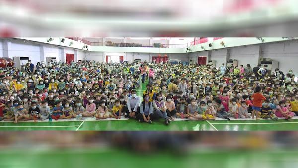 彰化囝仔好幸福兒童劇巡演 蘋果劇團在花壇國小開演