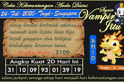 Syair Vampir Jitu Togel SGP Senin 24 Februari 2020