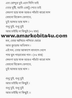 Shudhu tui song lyrics bengali movie Villain
