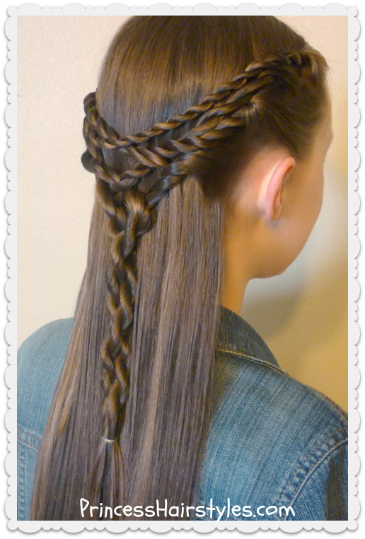 Tangled Twists Tie Back Hairstyle   Hairstyles For Girls ...