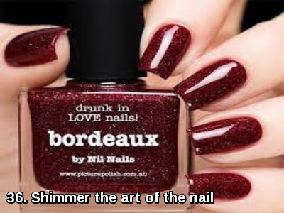 Shimmer the art of the nail