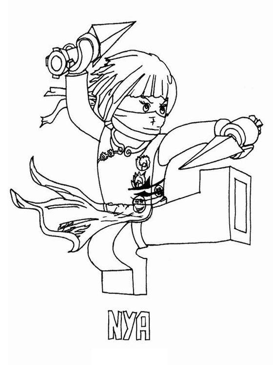 ninjago character coloring pages-#36