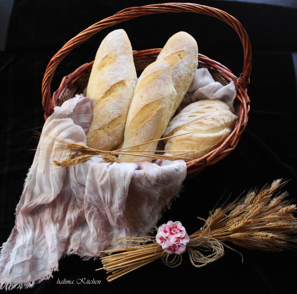 طريقة عمل خبز الباجيت المنزلي