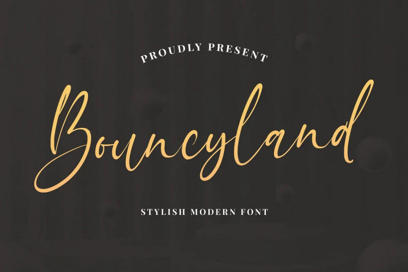 Bouncyland Font - Free Natural Calligraphy Typeface