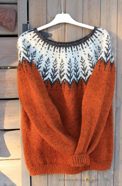 islantilaisneule lettlopi kirjoneulepusero vintersol