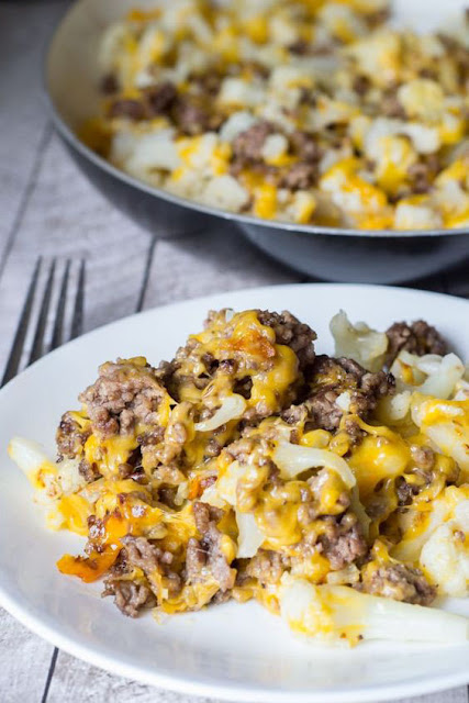 Cauliflower and Ground Beef Hash - Low Carb