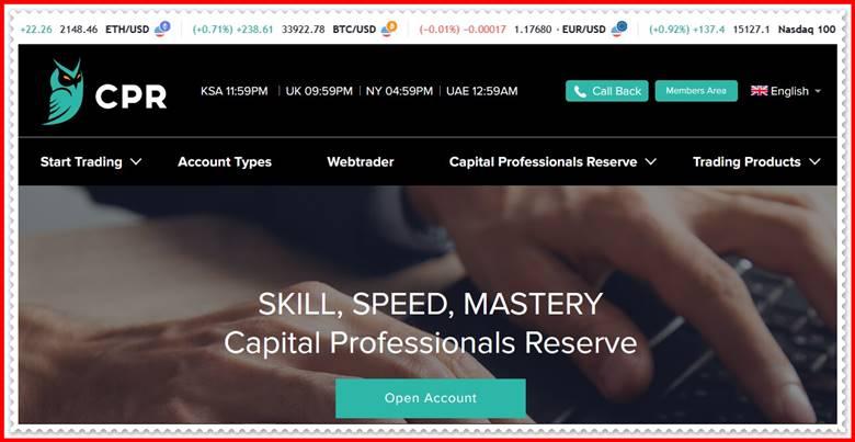 [Мошеннический брокер] cp-r.net – Отзывы, развод? Компания Capital Professionals Reserve мошенники!