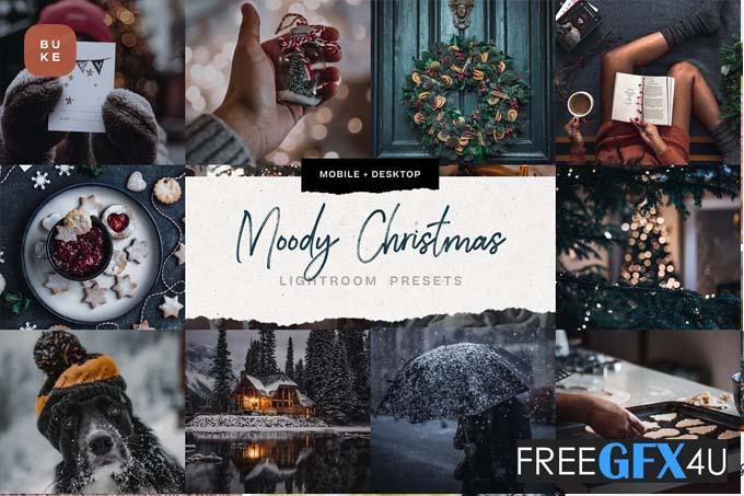 4 Moody Christmas Presets Pack