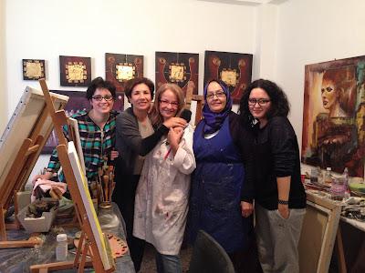 Les retrouvailles des artistes de l'atelier Artemisia 1