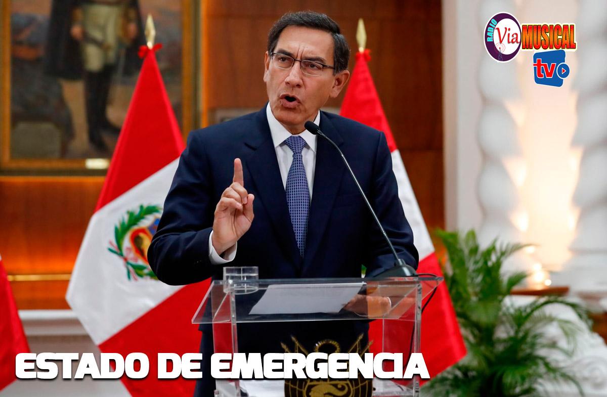 Martín Vizcarra declara estado de emergencia por coronavirus