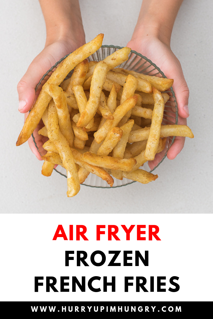 Air fryer frozen french fries that are nice and crispy