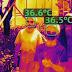 L'azienda cinese produce occhiali che misurano la temperatura delle persone