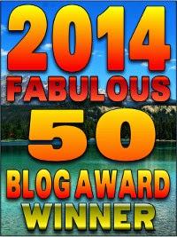 Winner - 2014 Fabulous 50 Blog Awards