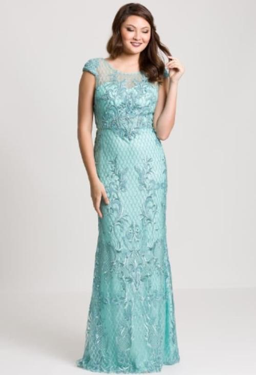 vestido longo tiffany rendado para madrinha de casamento