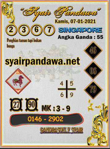 Gambar Syair Pandawa Sgp kamis 07 januari 2021