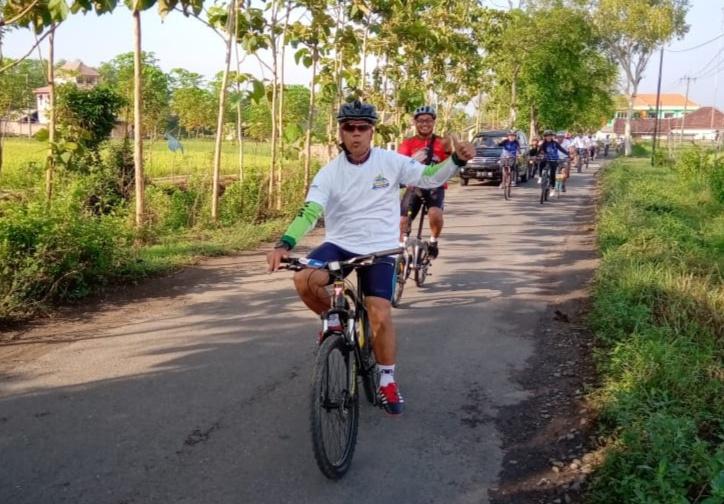 Peltu Sugeng, Goweser Korem 081/DSJ Senang Meriahkan Fun Bike HUT Ke-124 BRI