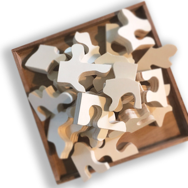 Fabriquer des jeux en bois avec des matériaux recyclés : Puzzle fait maison