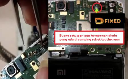 Memperbaiki Layar Touchscreen Xiaomi 4A Tidak Bisa Di Sentuh