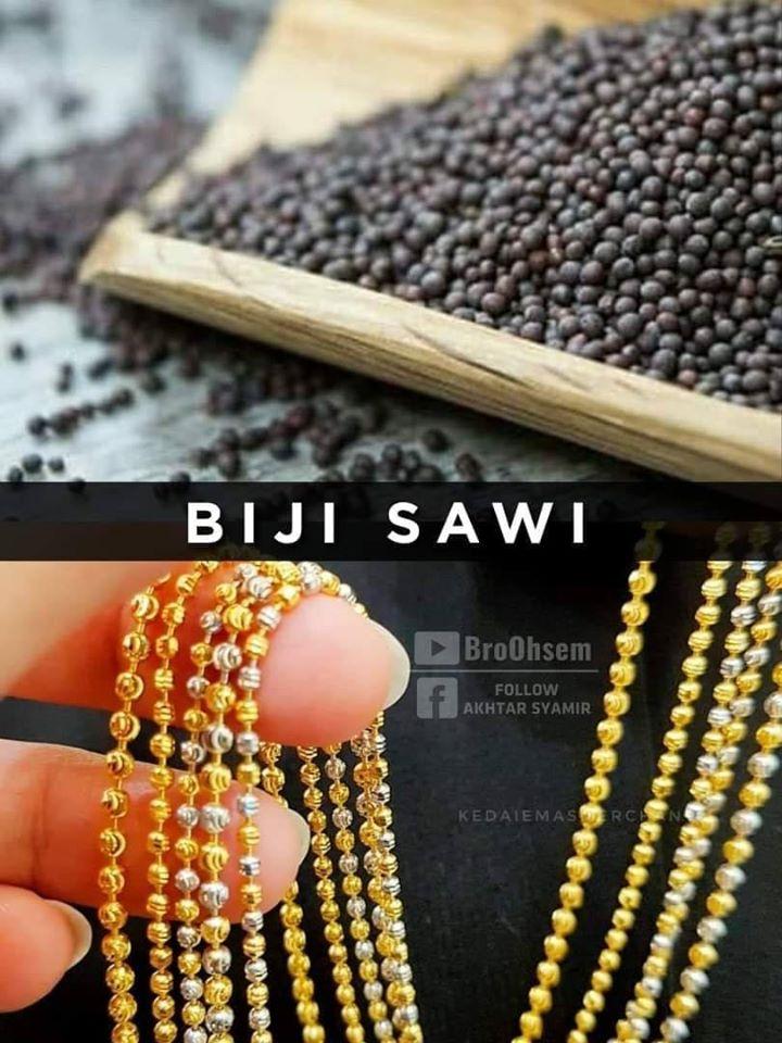 Gelang Emas Biji Sawi