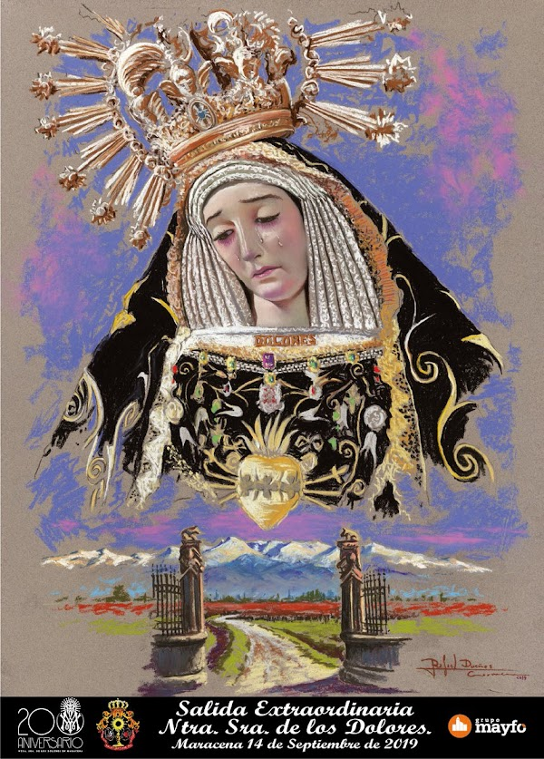 Cartel anunciador de la Salida Extraordinaria de Ntra. Sra. de los Dolores, Patrona de Maracena, que tendrá lugar el 14 de septiembre.