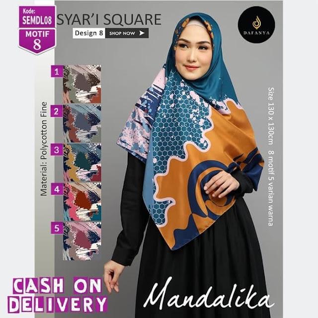 Hijab jilbab kerudung syar'i square Mandalika
