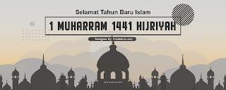 Banner Spanduk Peringatan Tahun Baru Islam 1441 Hijriyah