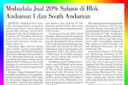 Mubadala Sold 20% of Shares in the Andaman I and South Andaman Blocks