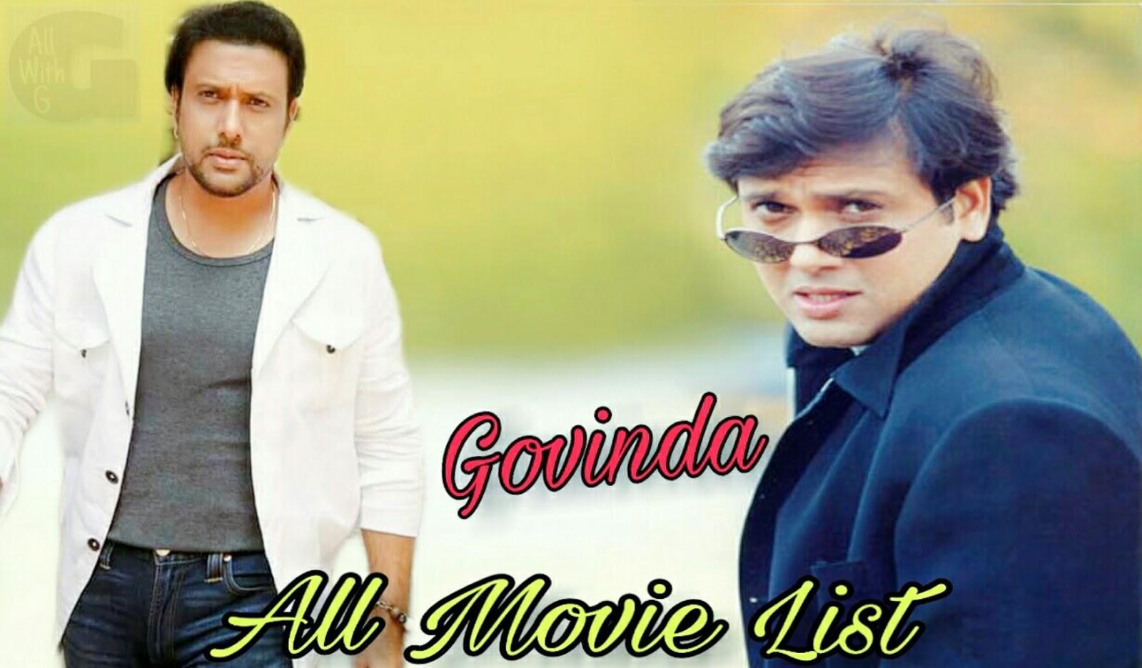 Govinda All Movie List   Govinda Bollywod Movie List   All With G