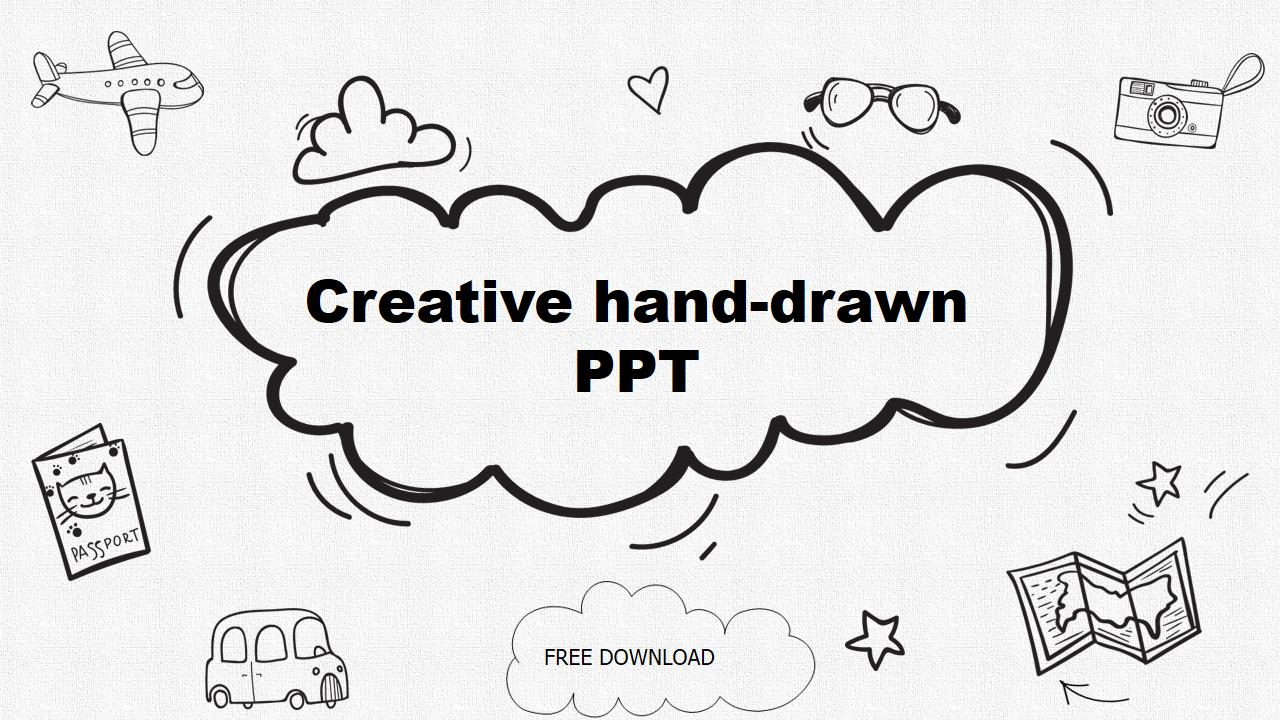 Creative Cartoon Pencil Hand Drawn Ppt Template Template