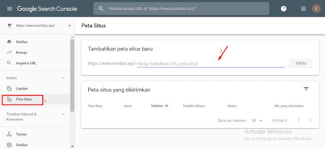 Cara Mudah Submit Sitemap Blogger ke Google Webmaster Tools